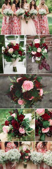 Rot als Hochzeitsfarbe! So machen wir Ihre Dekoration romantisch und elegant …   – Brautsträuße