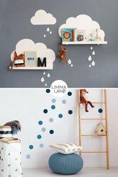 Errichte einen Kindergarten. Babyzimmer einrichten. Babyzimmer Wandgestaltung. Babyz …   – DIY & Freebies Limmaland