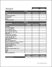 Basic Accounting Form Free Word Downloads Accounting Budgeting Budget Forms