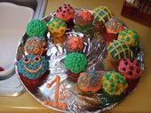 My variation of the caterpillar cupcakes.  They turned out beautifully! Whipped …