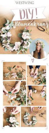 Couronne de fleurs bricolage   – DIY Fashion | Accessoires
