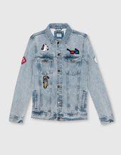 Patch Denim Jacket Jackets Blazers Man Pull Bear Albania Denim Jacket Patches Denim Jacket Mens Blazer Jacket