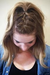 18 light braids for short hair – simple hairstyle