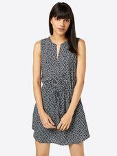 GAP Kurzes Kleid Damen, Blau, Größe 42