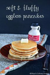 Soft and fluffy basic pancakes (Egg-less)   – Eggless Recipes