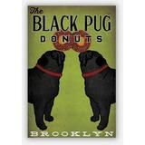 Native Vermont Two Black Pugs Print Choose Your Design The