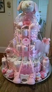 Info for diaper cake centerpieces. A baby shower event is really