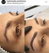 Forehead tattoo Melbourne Hair Stroke / Feather Contact / Microblading / Microstroke /…