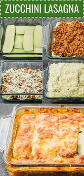 Diese leichte Zucchini-Lasagne ist eine großartige kohlenhydratarme und gesunde Alternative zu