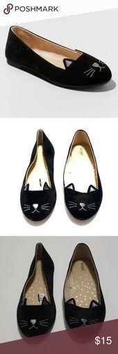 NEU Schwarz Ballerinas Little Girl Sz 3 Cat Kitten NEU ohne Tags / Box. Süßes B …