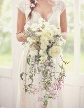 Bouquet de mariée tombant – 20 beaux bouquets de mariée pour égayer votre robe – Elle – audrey moreau