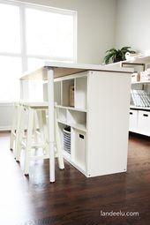 How to turn the Ikea Kallax shelf into a kitchen island