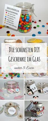 DIY die Schönsten DIY Geschenke im Glas unter 5 E…