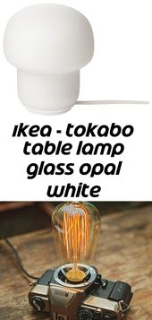Ikea – tokabo table lamp glass opal white
