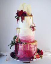 100 hübsche Hochzeitstorten, die Sie zu einer unvergesslichen Hochzeit inspirieren … – Desserts Rezepte