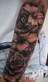 200 Bilder von weiblichen Arm Tattoos für Inspiration – Fotos und Tattoos #flowertattoos – Flower Tattoo Designs