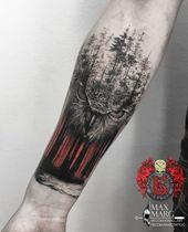 Owl Tattoo auf dem Unterarm New School von Maks Ivanov – #flag #forearm #Ivanov #Maks # …