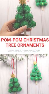 Einfache Christbaumkugel, die Kinder machen können. #christmas #christmascrafts # … – kids christmas