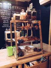 Photo of Wooden pastry showcase handcrafted …
