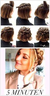 Hairstyles for Short Hair: Half Ponytail Braided, #Hairstyles # for #braided #Hair …