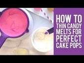 How to Thin Wilton Candy Melts for Perfect Cake Pops   – Decorating tips