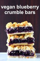 Photo of Gluten-Free Vegan Blueberry Crumble Bars