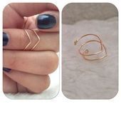 Knuckle / mi fil ring by shopenvyme2013 sur Etsy #wirejewelry – myoyun.org/de