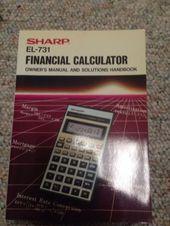 Sharp El  Financial Calculator  Calculator And Products