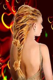 Awesome Very Long Blonde Homecoming Hairstyle – #Awesome #Blonde #Hairstyle #Hom…