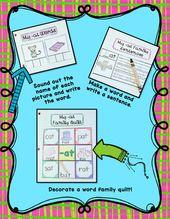 Interaktive Wortfamilienaktivitäten – Best of First Grade