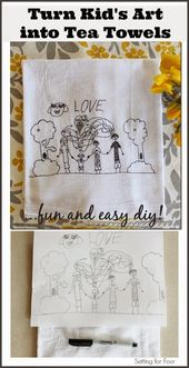 Turn Childrens Art Into Tea Towels: Kids Craft   – Kids Art: Auction Projects & Fundraisers