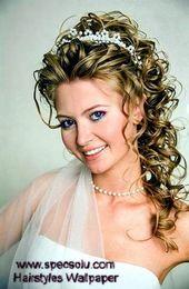 Hochzeitsfrisuren für langes Haar mit Stirnband Z…