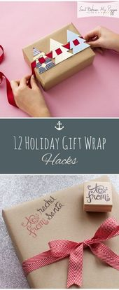 12 Holiday Gift Wrap Hacks – Sand zwischen meinen Schweinen – Strandurlaub und Reisen …