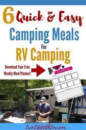 Repas rapides et faciles pour faire du camping car   – All Things RVing