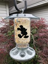 Mickey And Minnie Mouse Wild Bird Feeder Etsy Wild Bird Feeders Wild Birds Bird Feeders