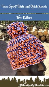 Thick and Quick Team Spirit Beanie Pattern – Little Family on the Mountain