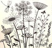 Summer Meadows, unmontierter Stempel mit skurrilen Wildblumen von Crafty Individual #woodworkingsbedroom