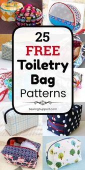 Bag patterns to sew. 25 Free Toiletry Bag Patterns, diy projects, and sewing tut…