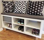 Kallax Sitzbank und Schuhregal im Scandi Style