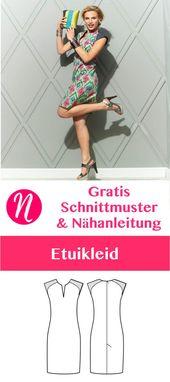 Etuikleid für Damen – gratis Schnittmuster Tipp – Größe 36 – 46