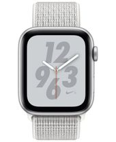 Apple Watch Nike+ Series 4 Gps, 44mm Silver Aluminum Case with Summit White Nike Sport Loop – White