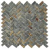 Merola Tile Crag Herringbone Sunset Slate 12 in. x 12 in. x 10 mm Natural Stone Mosaic Tile-MCRHRSS – The Home Depot – Bathrooms