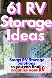 BIG list of RV Storage Ideas to help you organize your RV