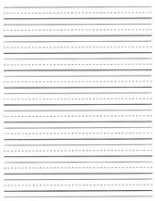 Free Lined Writing Paper For First Grade #2 | Fun Education Ideas For Boys  | Pinterest  Lined Paper For Writing