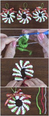 Lernen Sie, Weihnachtskränze zu häkeln