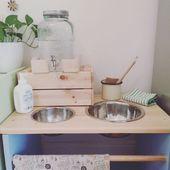 Décor Montessori pour la salle de bains et la cuisine pour enfants – Glückliche kindheit …   – Einrichtungsideen