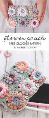Crochet flower clutch bag | Free crochet pattern – Thoresby Cottage
