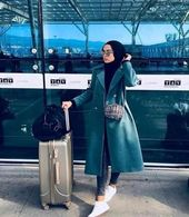 Best Tip to Style Hijab Outfit during Travel Girls Hijab Style Hijab Fashion Ideas