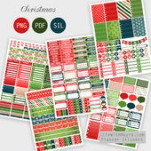 Free Printable Christmas Planner Stickers {PDF, PNG and Silhouette files} from l…