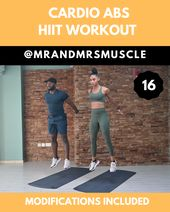 Abs and Cardio Workout – HIIT with low impact modifications included!